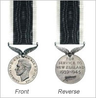 Medal illustration courtesy of the NZ Defence Force, Used with permission; subject to Crown Copyright