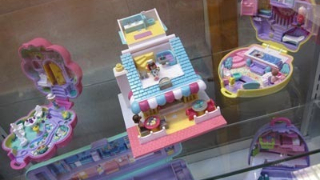Polly Pocket Collection in Display cabinet