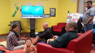 Newtown residents enjoying the Friday Flicks at 6 programme at Newtown Library